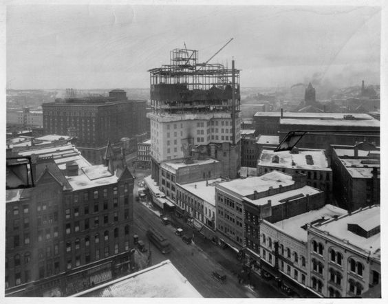 McKay Tower under construction - early 1920s. http://on.fb.me/HW8KxY