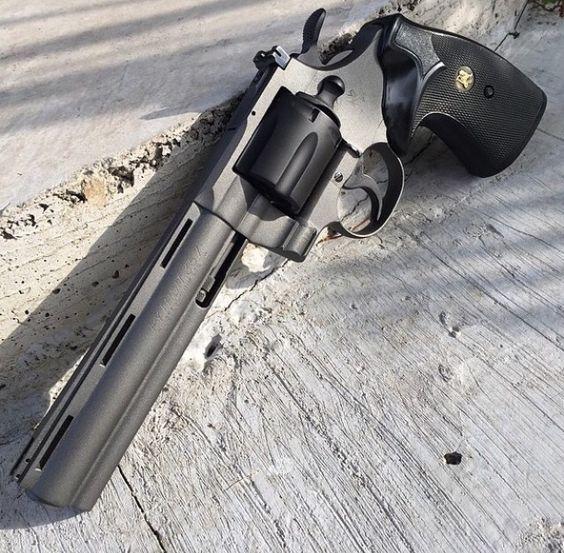 Colt Python 357, Revolver, tungsten, graphite black. guns, weapons, self defense, protection, 2nd amendment, America, firearms, munitions #guns #weapons