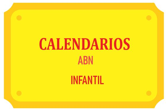 Calendarios Palillos ABN INFANTIL
