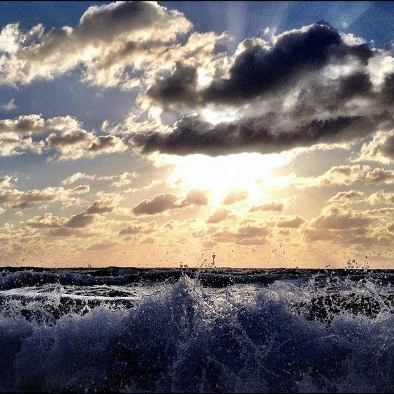 """""""Over an ocean at sunrise."""""""