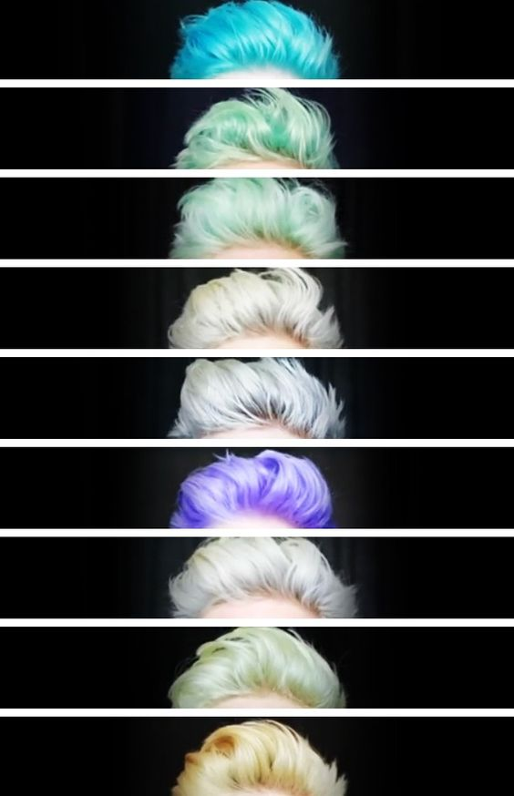 Tyler Oakley's hair colors   ALL OF THEM. I WANT THEM