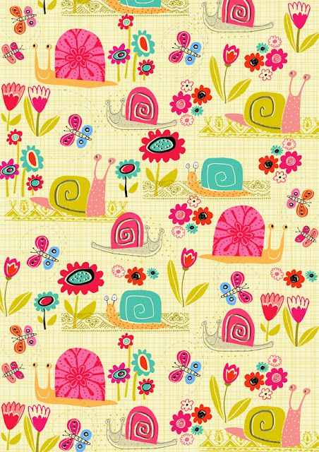 Snails in The Flower Garden via dawndraws.blogspot.co.uk