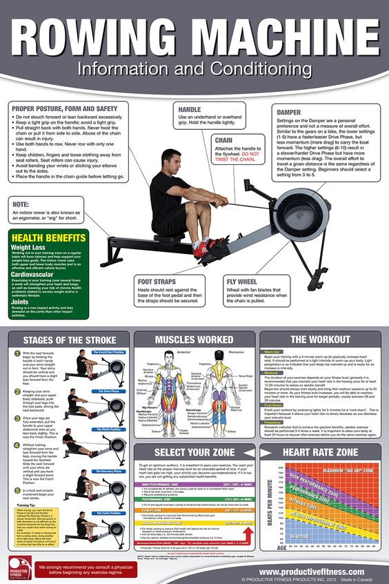 erg machine workouts