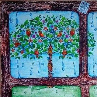 Owl Trree. Secret Garden. Árvore de corujas. Jardim secreto. Johanna Basford