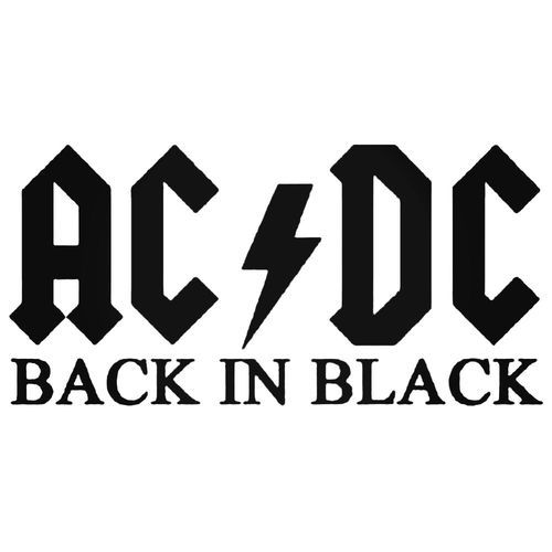 Acdc Back In Decal Sticker Acdc Stickers Acdc Logo
