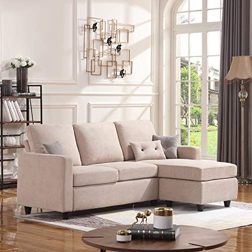 Honbay Convertible Sectional Sofa Couch L Shaped Couch With