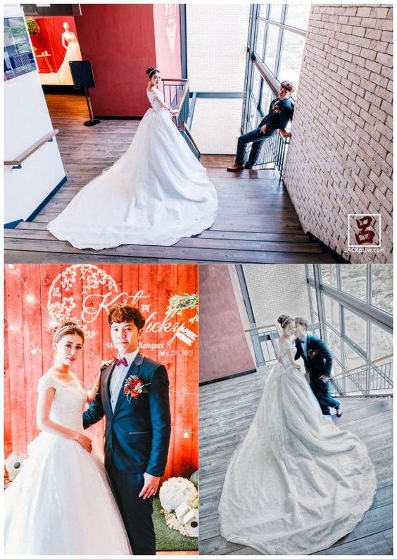 在準備換裝時,我花點時間拍攝,類婚紗照