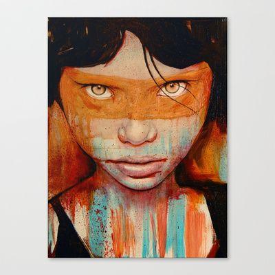 Pele Stretched Canvas by Michael Shapcott
