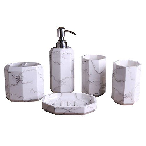 Bath Set Lapata White Ceramic Bathroom Accessories Toilet Brush Soap Dispenser View More On The Link H With Images Bath Accessories Set Bathroom Accessories Bath Sets