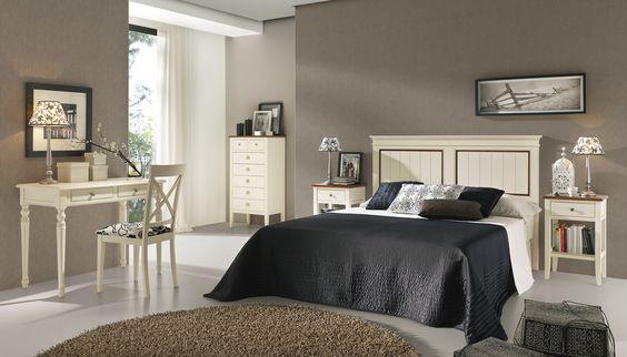 Muebles de dormitorio estilo cl sico en madera maciza con - Pintura para muebles de madera ...