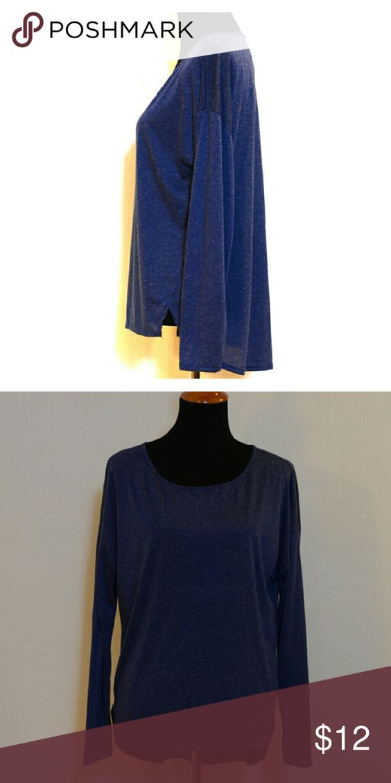 Abound heathered Tunic subbed knit top Abound Tops Tees - Long Sleeve