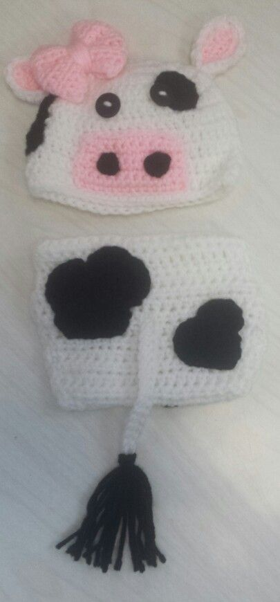 Moo cow diaper cover set