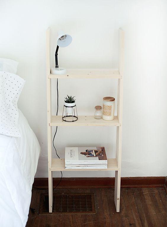 DIY Ladder Shelf @themerrythought: