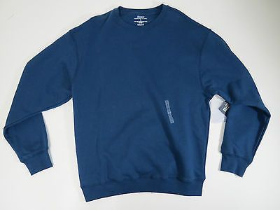 Roundtree & Yorke Sport Mens Dark Blue Crew Neck ProLuxe Fleece Sweater Sz Large
