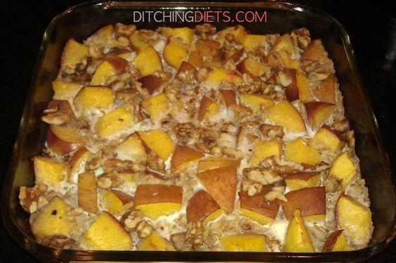Peach Cobbler Baked Oatmeal