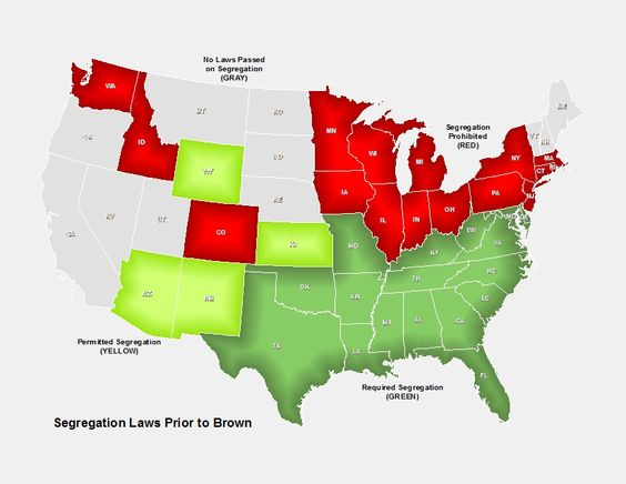 Segregation In S Afrian American History Pinterest - Map of segregation in us