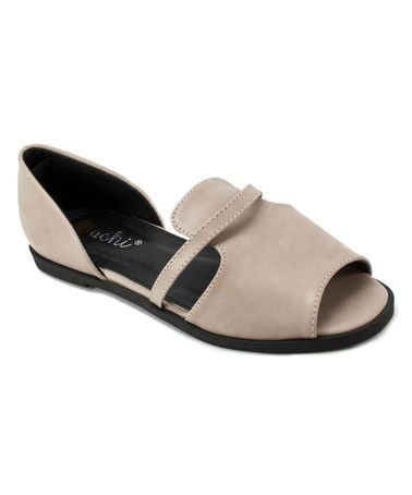 This Beige Fanta Peep-Toe Flat is perfect! #zulilyfinds