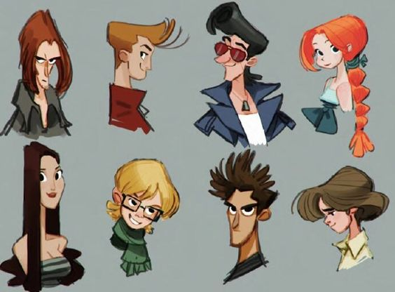 Design Your Cartoon Character : Character design references キャラクターデザイン characters and