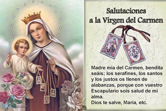Santa María, Madre de Dios y Madre nuestra: Salutaciones a la Virgen del Carmen
