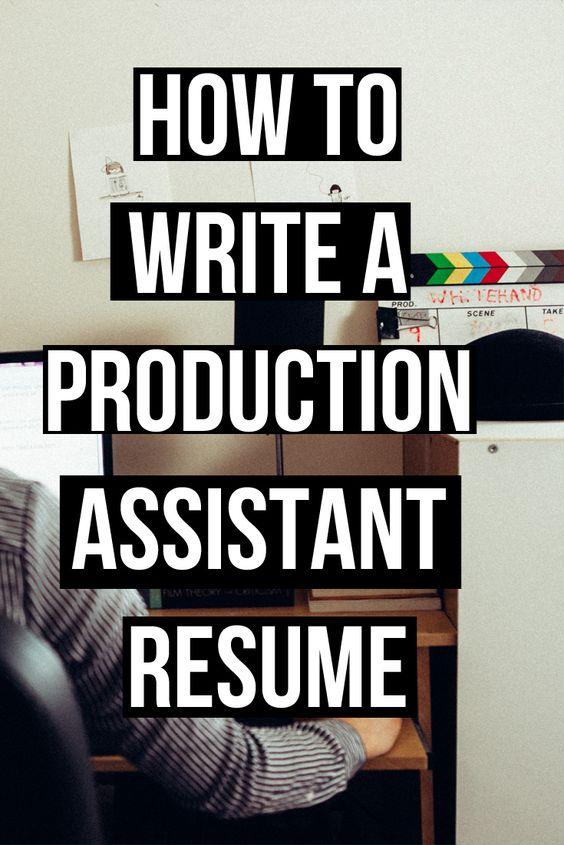 pabootcamp Production Assistants Pinterest - film production resume