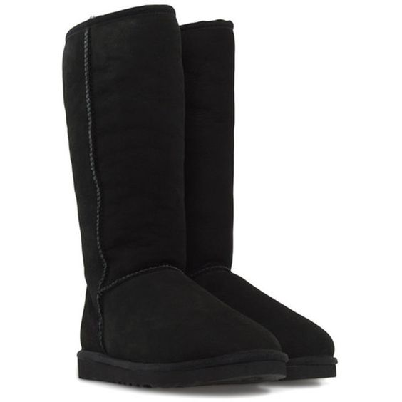 Ugg Classic Tall 5815-Blk ($285) ❤ liked on Polyvore