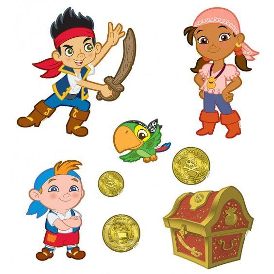 16 stickers muraux jake et les pirates du pays imaginaire - Jake et les pirates ...