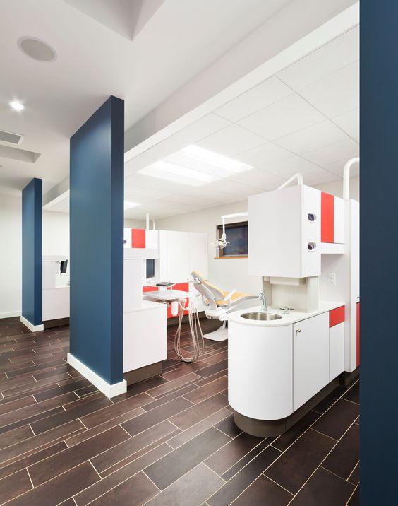 Color blocking dentistry and floors on pinterest for Dental office design chapter 6