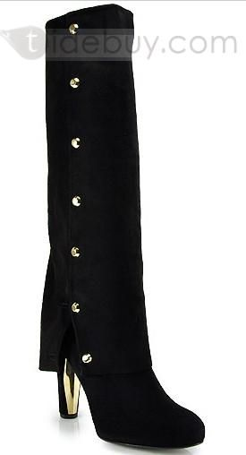 Elegant Chunky Heels Keen High Women Boots