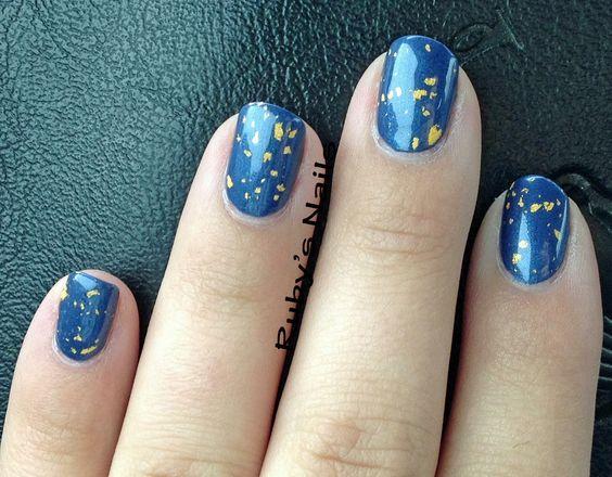 FingerPaints Art You Blue? and Jessica Gold Leaf 18K