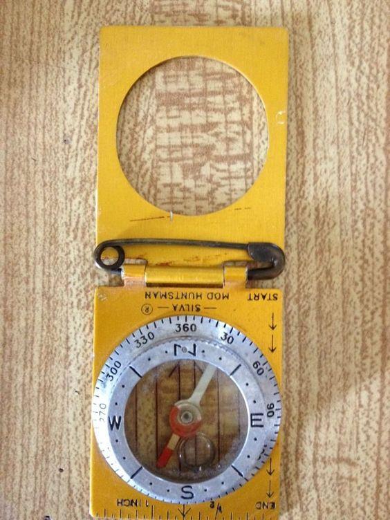 Vintage Silva Model Huntsman Compass Made In Sweden Over