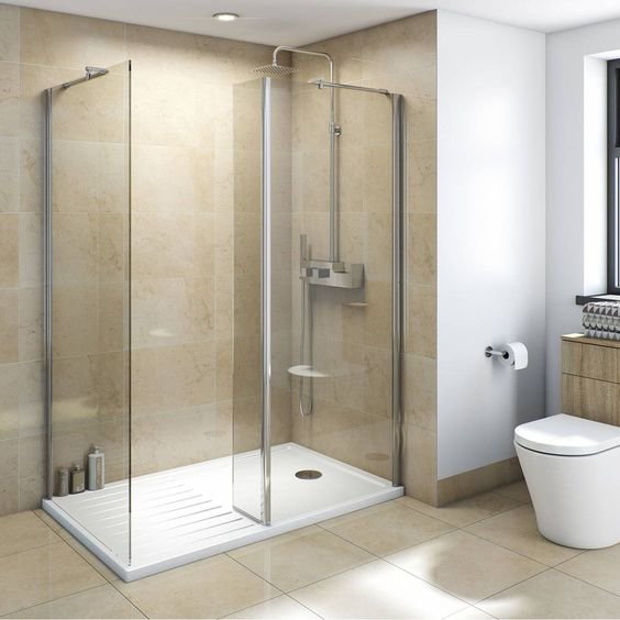 Cubicles shower enclosure and polished chrome on pinterest for Bathroom cabinets victoria plumb