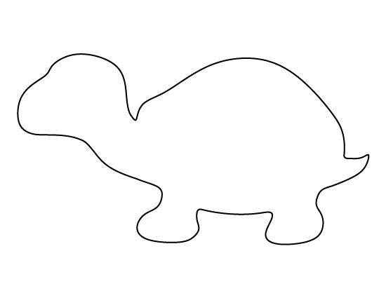 Turtle pattern. Use the printable outline for crafts, creating ...