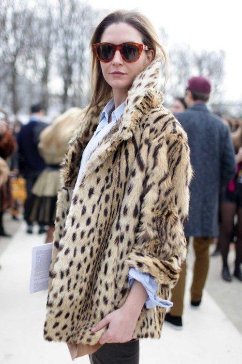 leopard fur coat // Source: walkonvogue