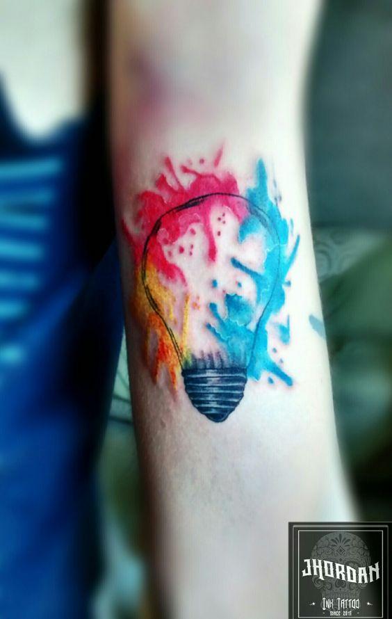 Tattoo em Aquarela feita por Jhordan Ink Tattoo
