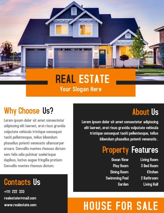 Real Estate Flyer Template Creative Design Real Estate Flyers Real Estate Flyer Template Poster Template Design