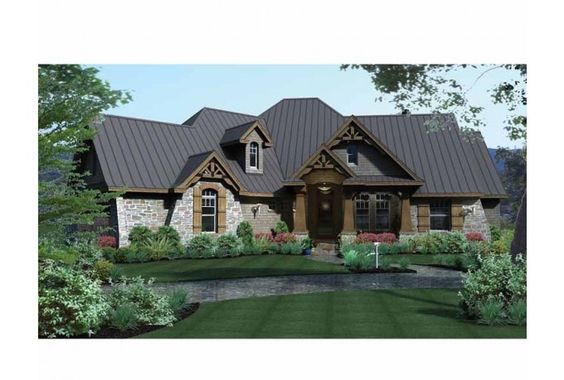 House plans french country house plans and craftsman on for French country house plans with front porch