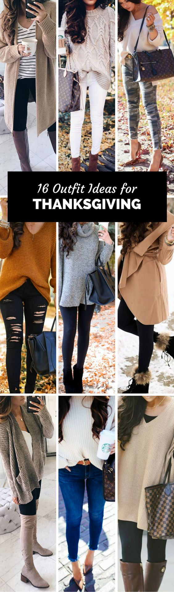 My favorite looks for Thanksgiving. The Sweetest Thing, Emily Gemma. Fashion Blogger, Fashion Trends, Fashion Outfits, Casual style, camel coat, grey sweater, distressed jeans, louis vuitton handbag, suede boots, striped tee. #fashionblogger #thanksgivingoutfits #falloutfits #winteroutfits #style #camelcoat