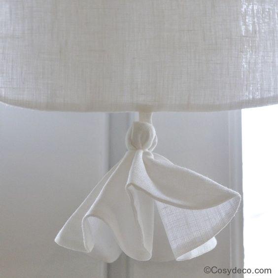Rideau cantonni re coton blanc monogramme brod linge for Cantonniere pour fenetre