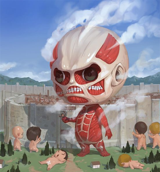 #chibi #titans Attack on Titan . Awww I never thought they could look cute!