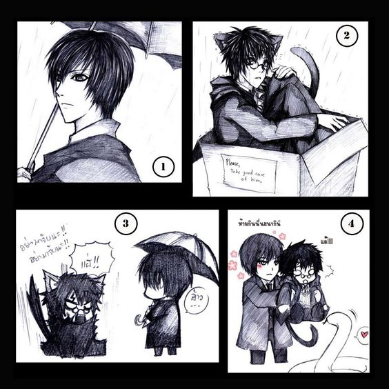 Hp Tom Riddle And A Neko Harry Harry Potter Anime Harry Potter Funny Harry Potter Love