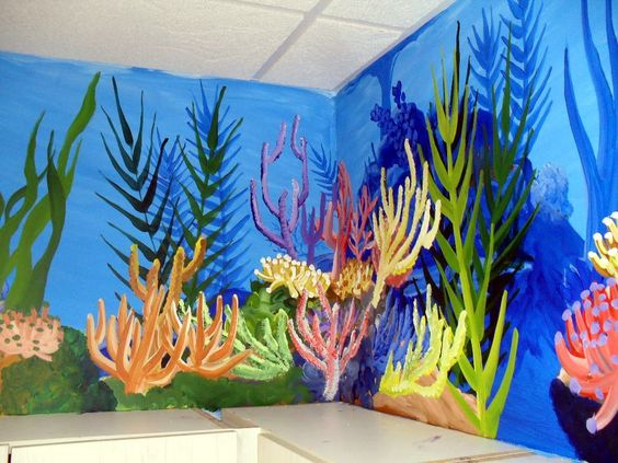 Google image result for for Coral reef mural