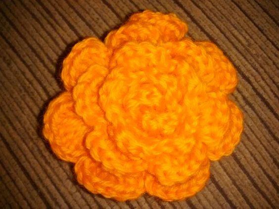 Flor de crochê #adorodemais
