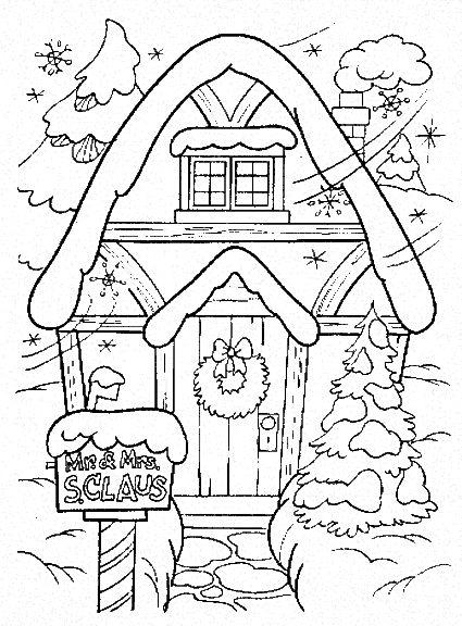 malvorlagen weihnachten winter – Ausmalbilder für kinder
