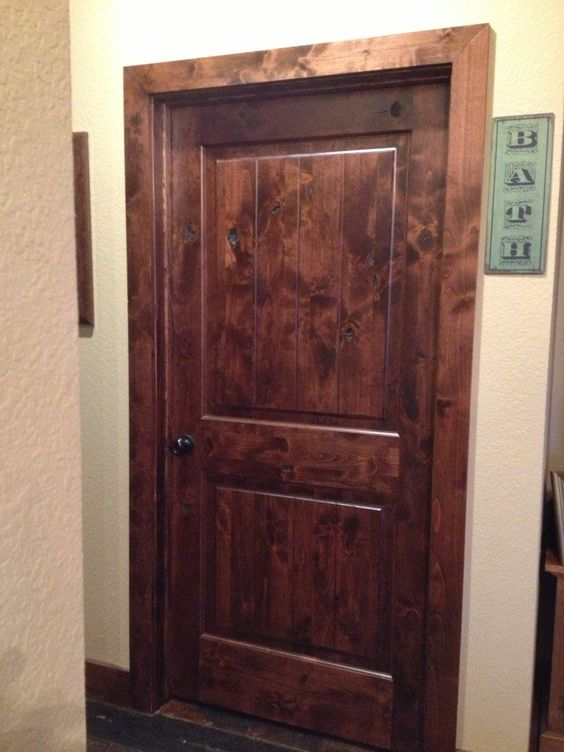 Stained Knotty Alder Doors Trim So Rustic My Country Life Pinterest A Well Stains And
