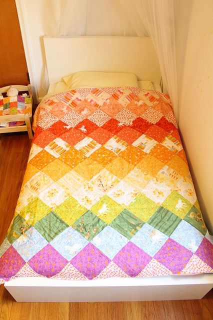 Rainbow Quilt by Rae | Flickr - Photo Sharing!