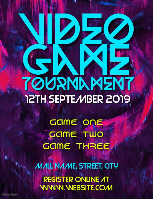 Video Games Tournament Video Game Tournaments Contest Poster Video Game Posters