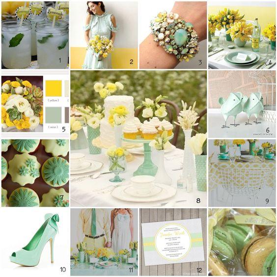 mint green and gold wedding | Inspiration: Lemon + Mint | Modern Vintage Events