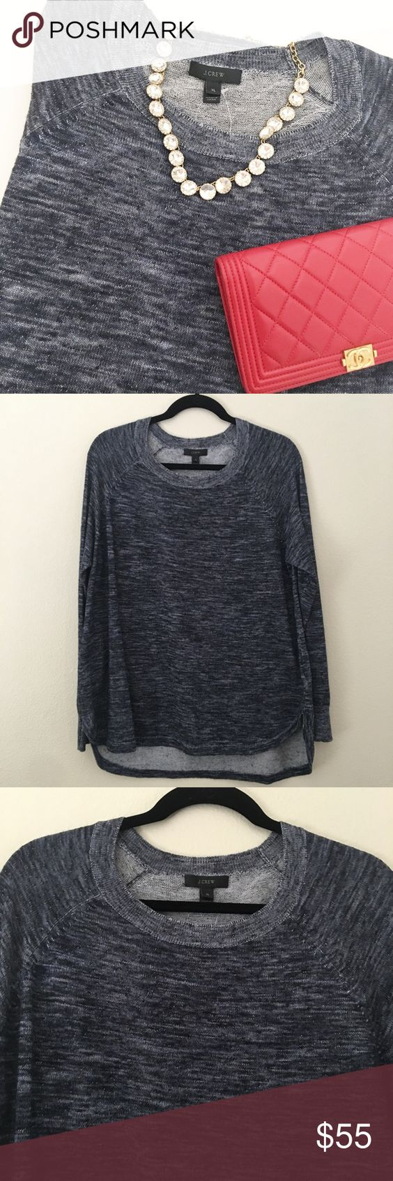 Lightweight J. Crew sweater Super lightweight J. Crew sweater. From J. Crew retail. Looks blue in some lights and charcoal in others. Brand new with tag. No trades. No PayPal. J. Crew Sweaters Crew & Scoop Necks