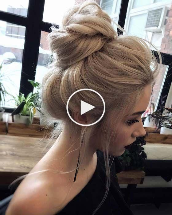 21 Cute And Easy Messy Bun Hairstyles Long Hair Styles Hair Styles Wedding Hairstyles For Long Hair