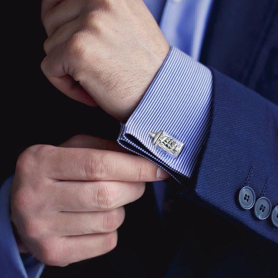 Rurah Fashion Cufflinks Sleeve Cufflinks Official Business Wedding Shirt,B1087-purple